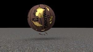 3D basketball - exact replica of game ball