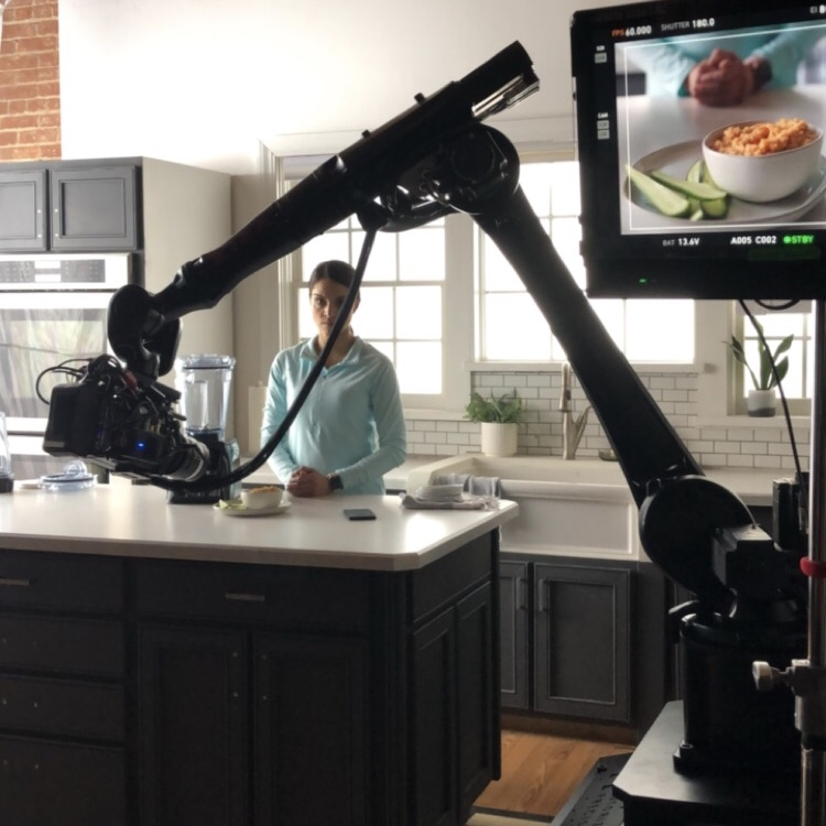 Kira on set at Vitamix